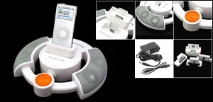 Space Station Stereo Speakers for iPod MP3 MP4 PC CD DVD Mobile