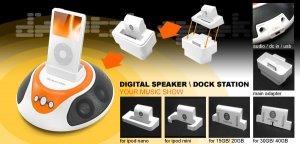 Dock Station Speaker for iPod/Mini/Nano/Video MP3 MP4 CD Player DVD Player