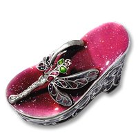 Jewelry Box Shoe with Dragonfly