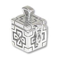 Sterling Silver Prayer Box - Celtic 20x13mm