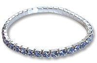 Swarovski Stretch Bracelet Sterling Silver