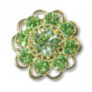 Swarovski Filigree 60860 Gold Plated Peridot/Chrysolite