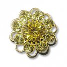Swarovski Filigree 60860 Gold Plated Jonquil/Light Topaz