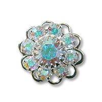 Swarovski Filigree 60860 Sterling Plated Crystal AB/Crystal AB