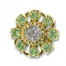 Swarovski Filigree 60870 Gold Plated Chrysolite/Crystal