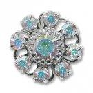 Swarovski Filigree 60870 Rhodium Plated Crystal AB/Crystal AB