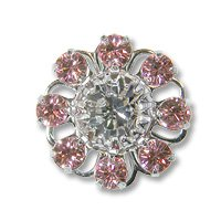 Swarovski Filigree 60870 Rhodium Plated Light Rose/Crystal