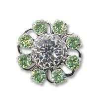 Swarovski Filigree 60870 Rhodium Plated Chrysolite/Crystal