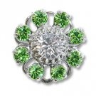 Swarovski Filigree 60870 Rhodium Plated Peridot/Crystal