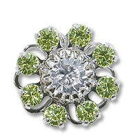 Swarovski Filigree 60870 Rhodium Plated Jonquil/Crystal