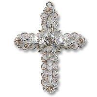 Swarovski Filigree 62016 Cross RP Crystal/Crystal/Crystal