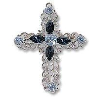 Swarovski Filigree 62016 Cross RP Light Sapphire/Montana