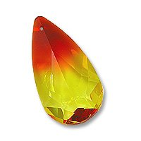 Multi-Color Teardrop 6100 24x12mm Fire Opal