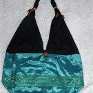 Eilat Purse, handbag, Turquoise Silk, Accessory, (medium)
