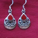Red Jasper Stone Sterling Silver Earrings, Jewelry, Semi-Precious