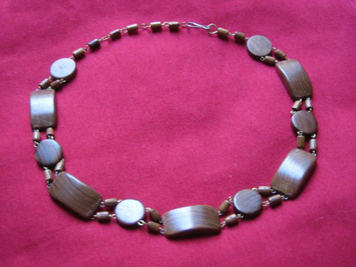 Earthy Wooden Choker Necklace, Jewelry, Natural, Hand-made