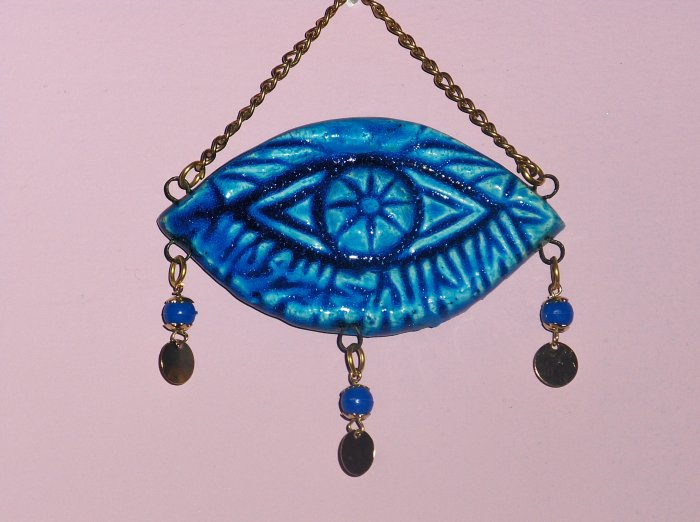 Mediterranean Evil Eye Protector, Decor, Ceramic, Art, Collection