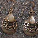 White Moon Stone Sterling Silver Earrings, Jewelry, Semi-precious Stone