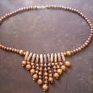 Chandelier Hand Carved Wooden Necklace, Jewelry, Wood Necklace