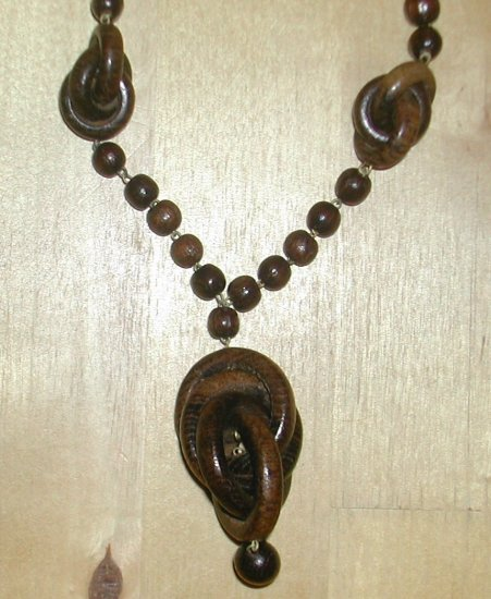 Hand Carved Wooden Necklace, Wood Necklace, Jewelry