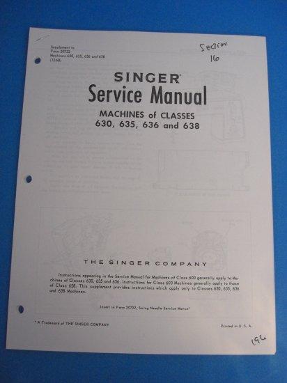 Singer 630  635  636  638  640  645  646  U0026 648 Sewing