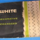 WHITE Decorative ZIGZAGGER Manual