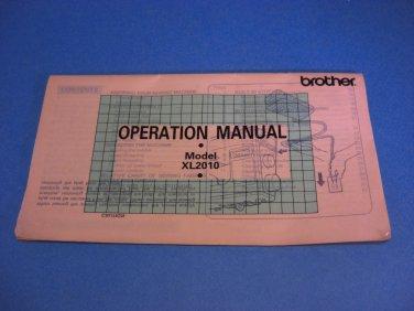 Brother XL2010 Original Sewing Machine Instruction Manual