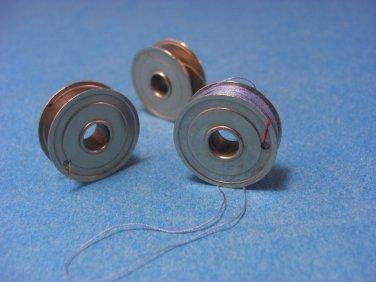 Vintage Singer White Kenmore Sewing Machine One Hole Bobbins #744 Set of 3