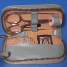 Leather Sewing Kit Zippered Case Vintage Made in Austria