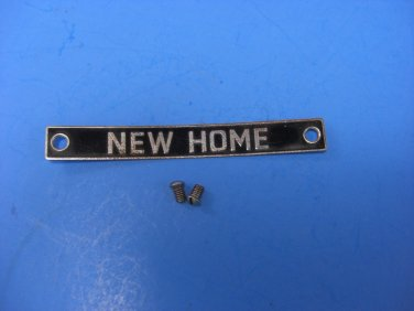 Janome New Home Model 170 JA-2 Sewing Machine Name Face Plate With Screws