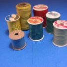 7 Thread Spools 100% Polyester Different Colors