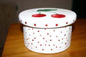 Hand Painted Cherry Cherries Gift Box