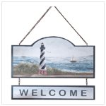 LIGHTHOUSE 'WELCOME' SIGN