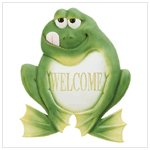 FROG WELCOME PLAQUE
