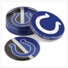 NFL TIN COASTER SET INDIANAPOLIS COLTS