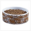 LEOPARD PRINT DOG BOWL
