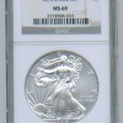 2010 AMERICAN SILVER EAGLE NGC MS69 BROWN / GOLD LABEL