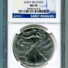 2013 AMERICAN SILVER EAGLE NGC MS 70 EARLY RELEASE