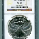 2015 AMERICAN SILVER EAGLE NGC MS 69 BROWN / GOLD LABEL