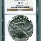 2016 AMERICAN SILVER EAGLE NGC MS 69 CLASSIC BROWN LABEL