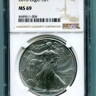 2018 AMERICAN SILVER EAGLE NGC MS 69 NEW BROWN LABEL