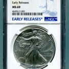 2018 AMERICAN SILVER EAGLE NGC MS 69 NEW EARLY RELEASES BLUE LABEL