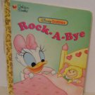 Golden Disney Babies Board Book A New Doll for Baby Daisy Rock A Bye
