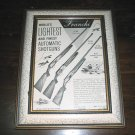 Vintage framed ad of Franchi Automatic shotguns