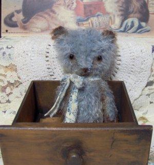 Mini mohair bear Jacob Vintage Style teddy E Pattern From SReetzBears