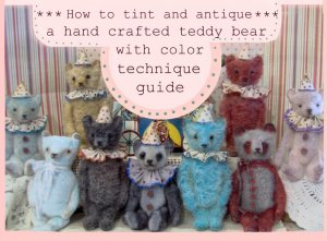 PDF E Guide How to Hand dye color wash tint teddy bear