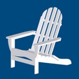 CURVED BACK ADIRONDACK CHAIR