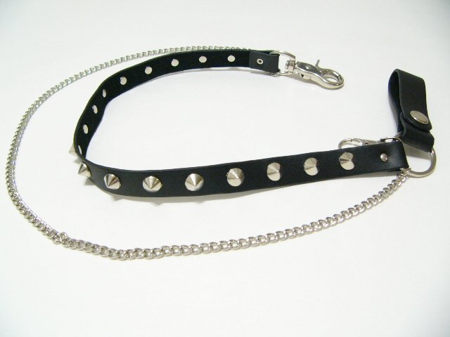Gothic Studs Wallet Chain Link Rock Punk (W613R)