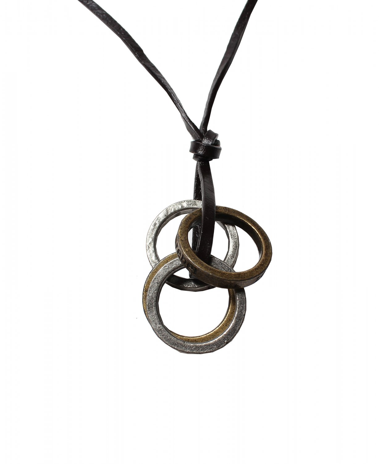 4 Rings Pendant with Cross and Circle Rings Necklace (N627SN)