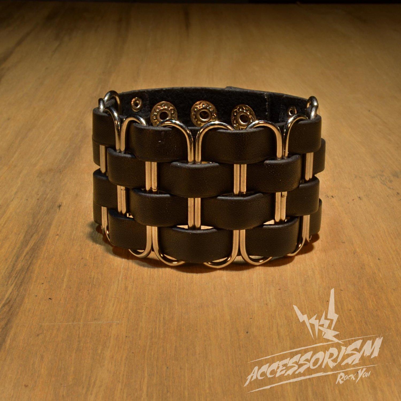 Clips Gothic Wide Bracelet Wristband Cuff (B643R)